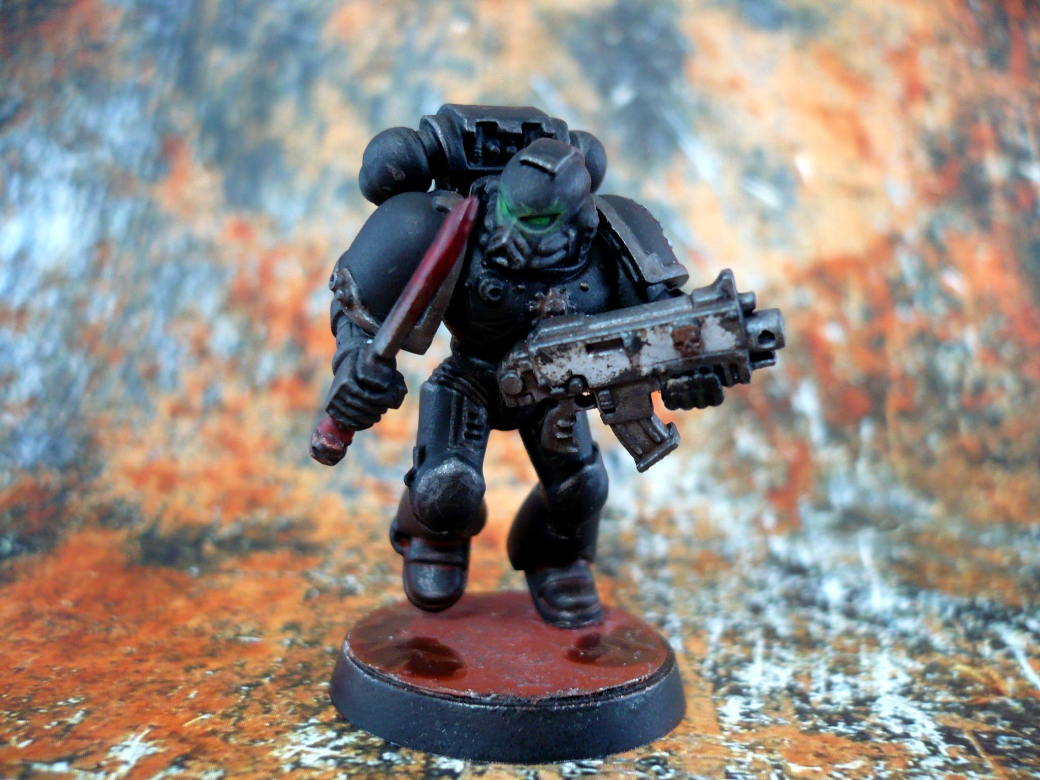 Iron Hands, San'oral, Space Marines, Tau, Warhammer 40,000, Weathered, White