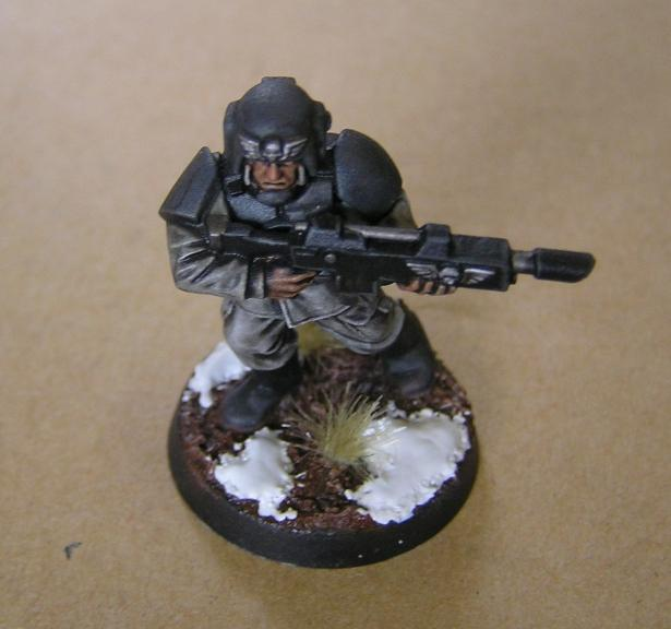 Cadians, Imperial Guard, Snow Effect