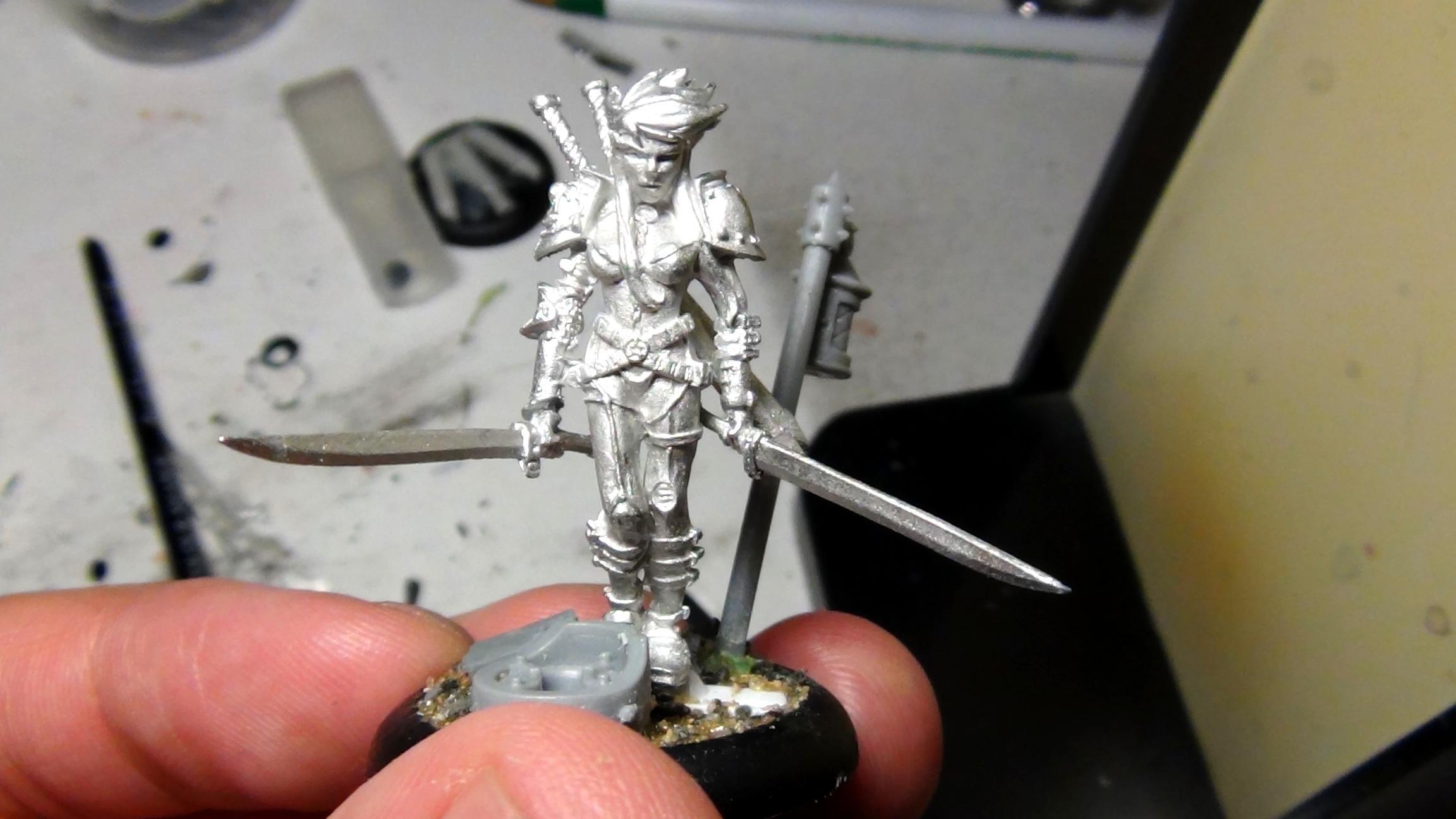Conversion, Greenstuff, Inquisitor, Warhammer 40,000, Work In Progress