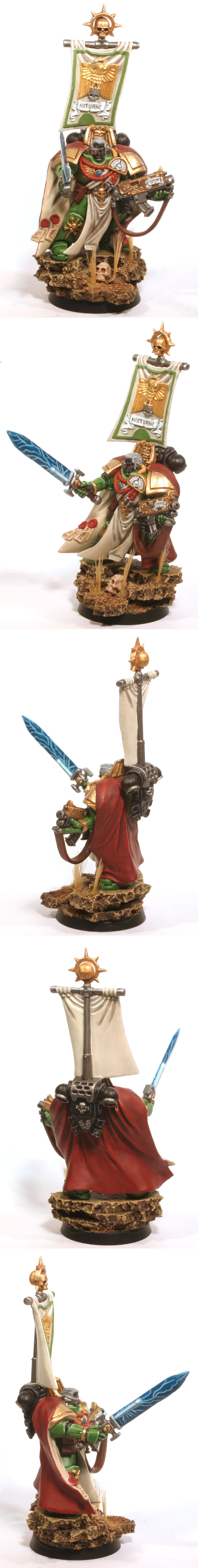 Assault On Black Reach, Banner, Captain, Power Sword, Salamanders