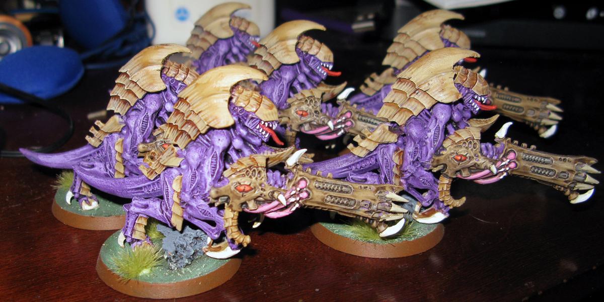 Bone, Hive Guard, Purple, Tyranids, Work In Progress