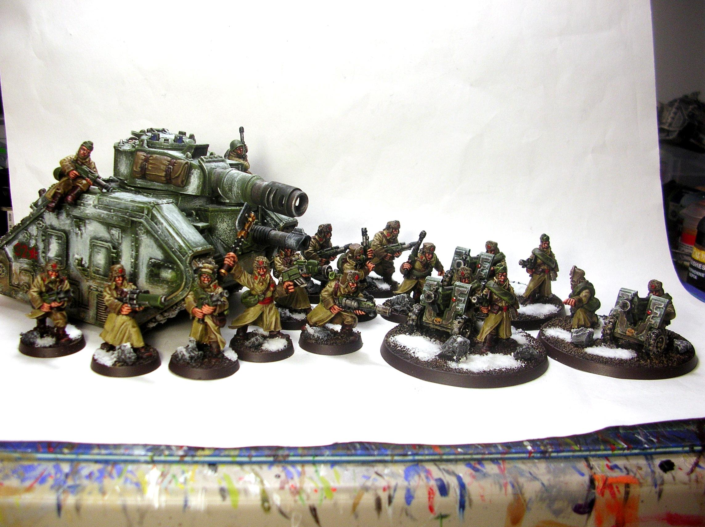 Imperial Guard, Leman Russ, Russians, Valhallans, Warhammer 40,000, Winter