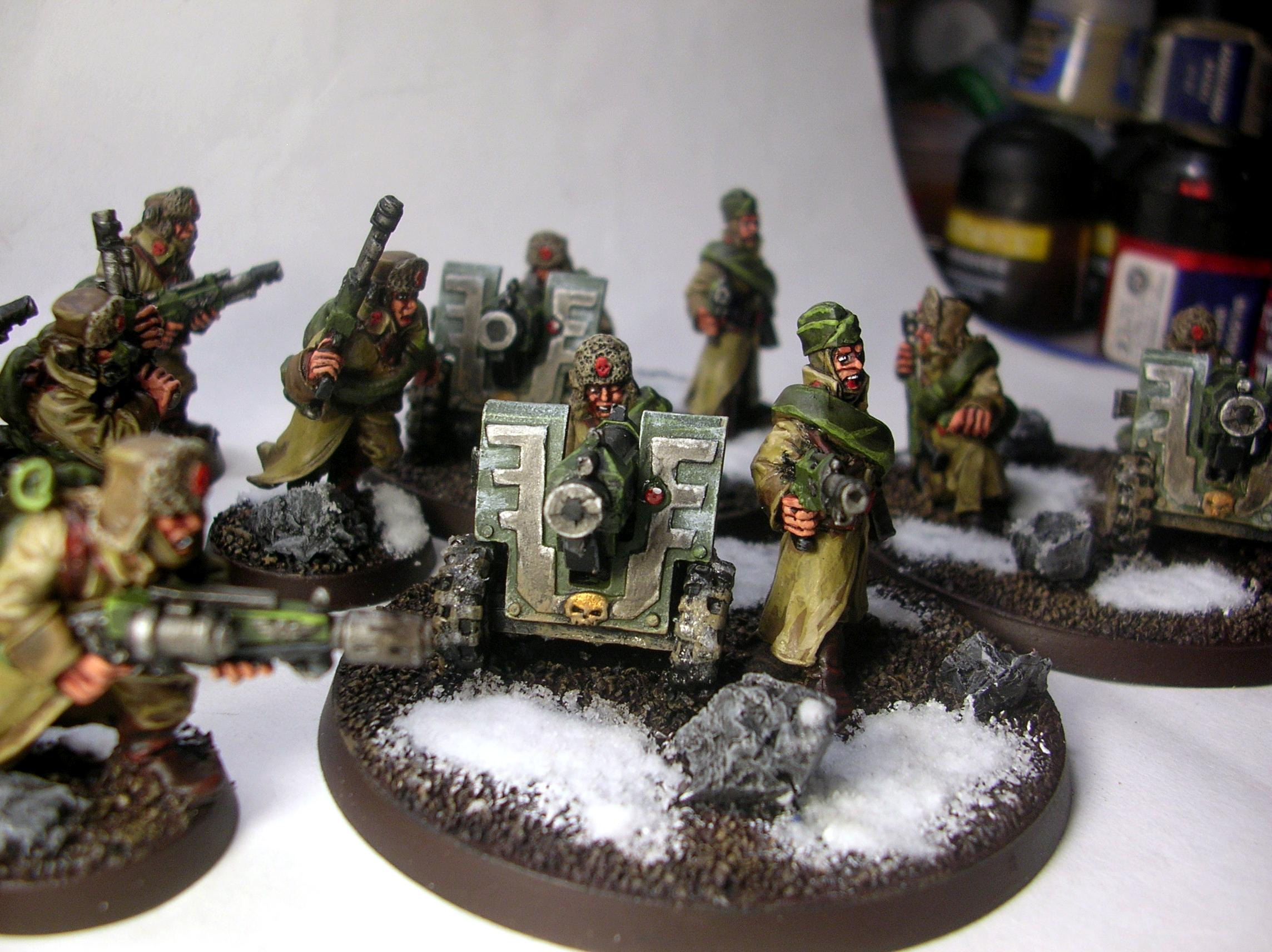 Imperial Guard, Leman Russ, Russians, Valhallans, Warhammer 40,000, Winter