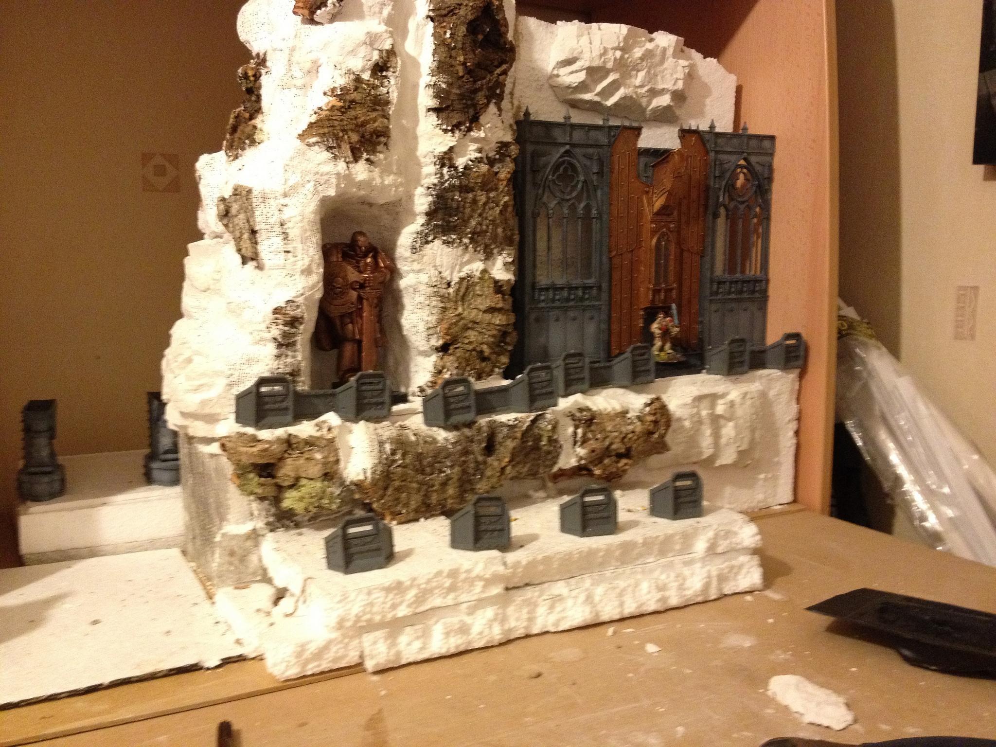 Display Board, Imperial, Shrine Of Aquila, Skyshield, Terrain, Warhammer 40,000, Work In Progress
