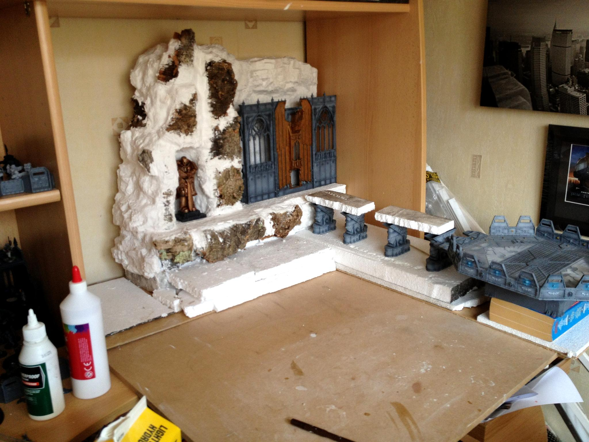 Display Board, Imperial, Shrine Of Aquila, Skyshield, Terrain, Warhammer 40,000, Work In Progress