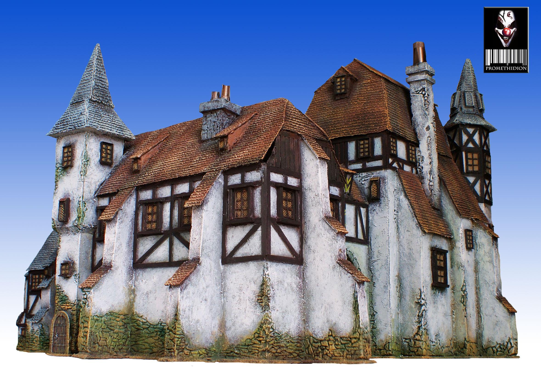 Battlegames, Buildings, Medieval, Terrain, Warehouse, Warhammer Fantasy