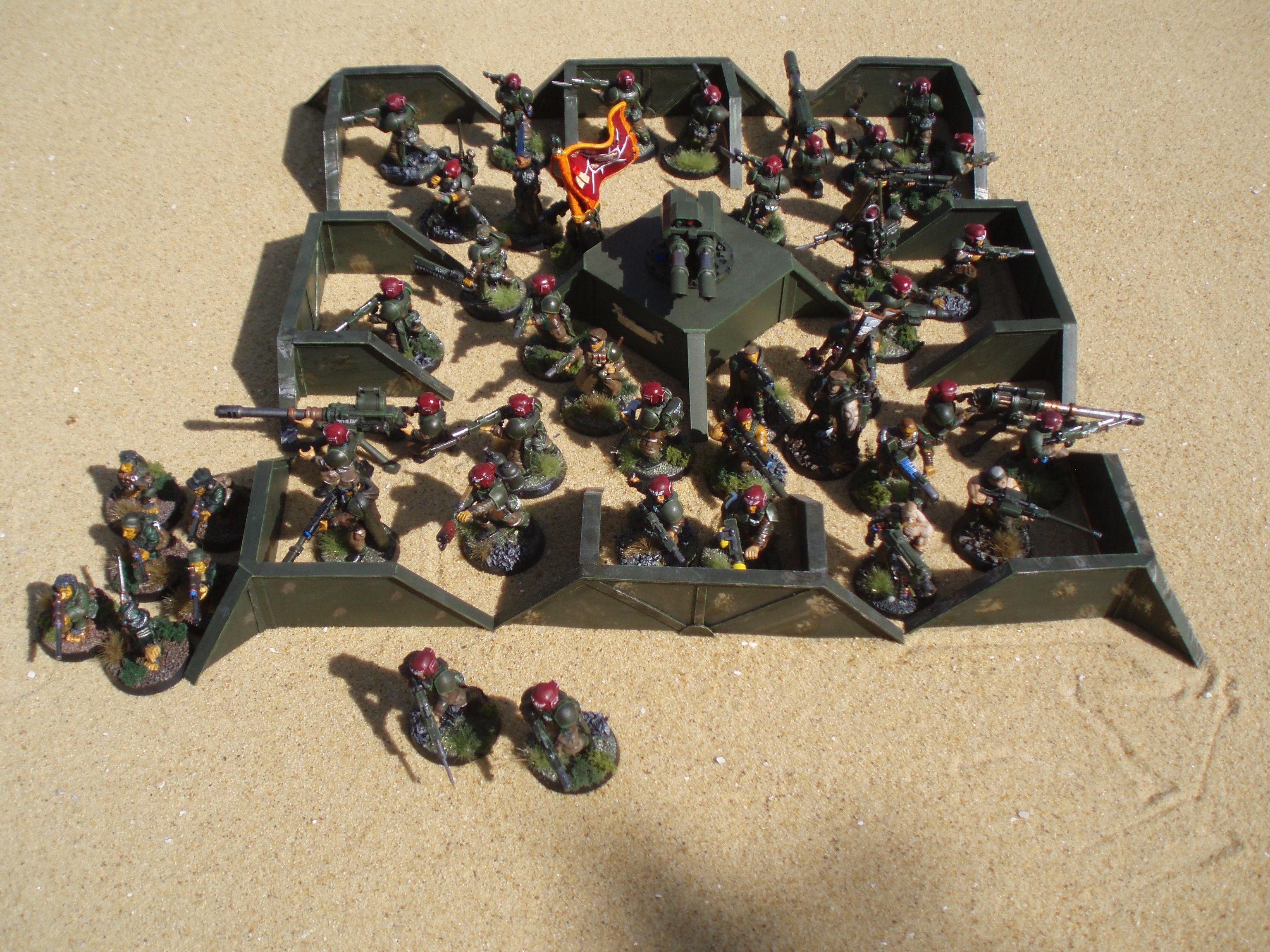 Battle Cannon, Imperial Guard, Ratlings, Terrain, Warhammer 40,000
