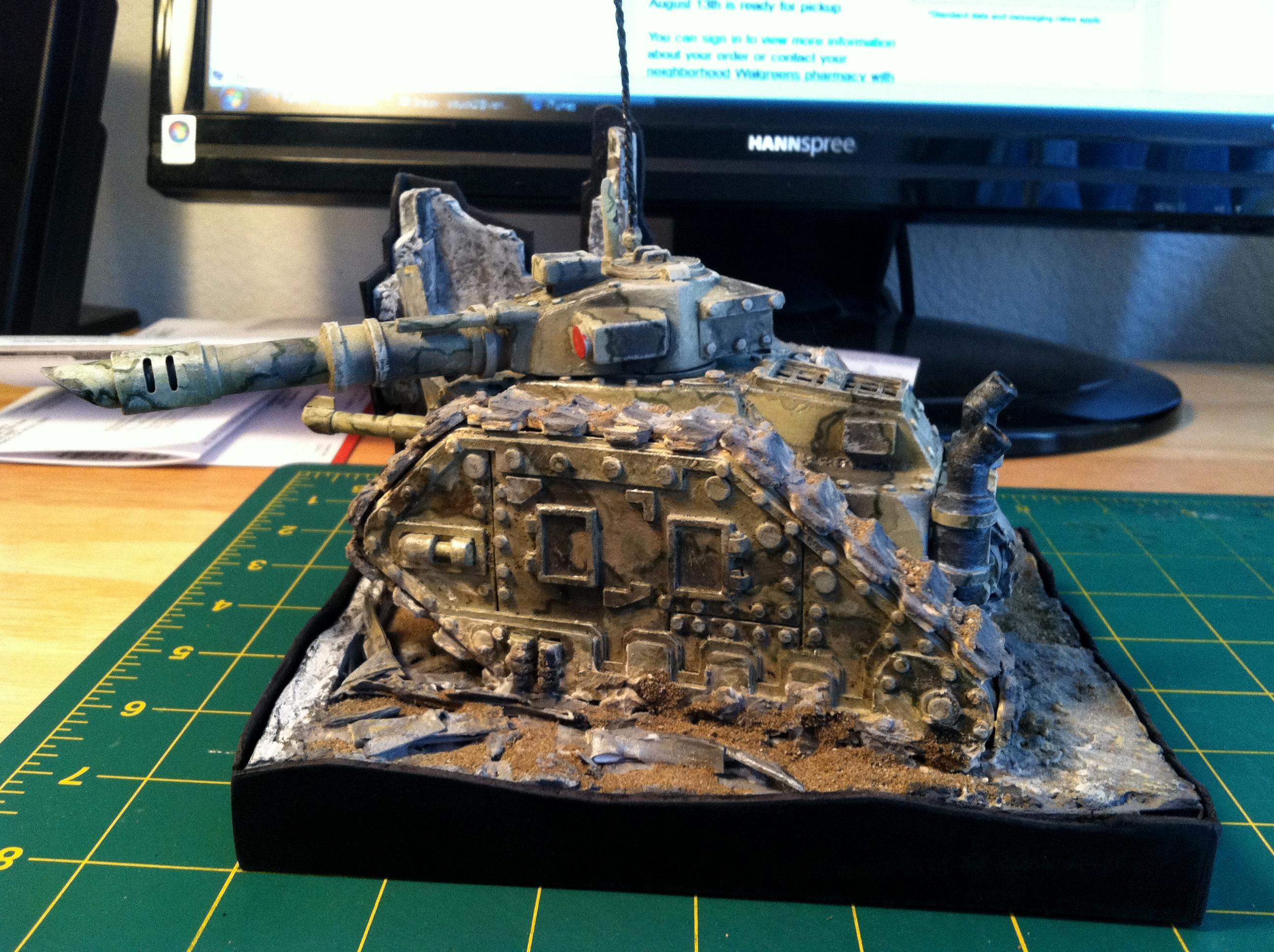 Complete, Diorama, Leman, Leman Russ, Paper, Russ, Side, Vanquisher, Warhammer 40,000