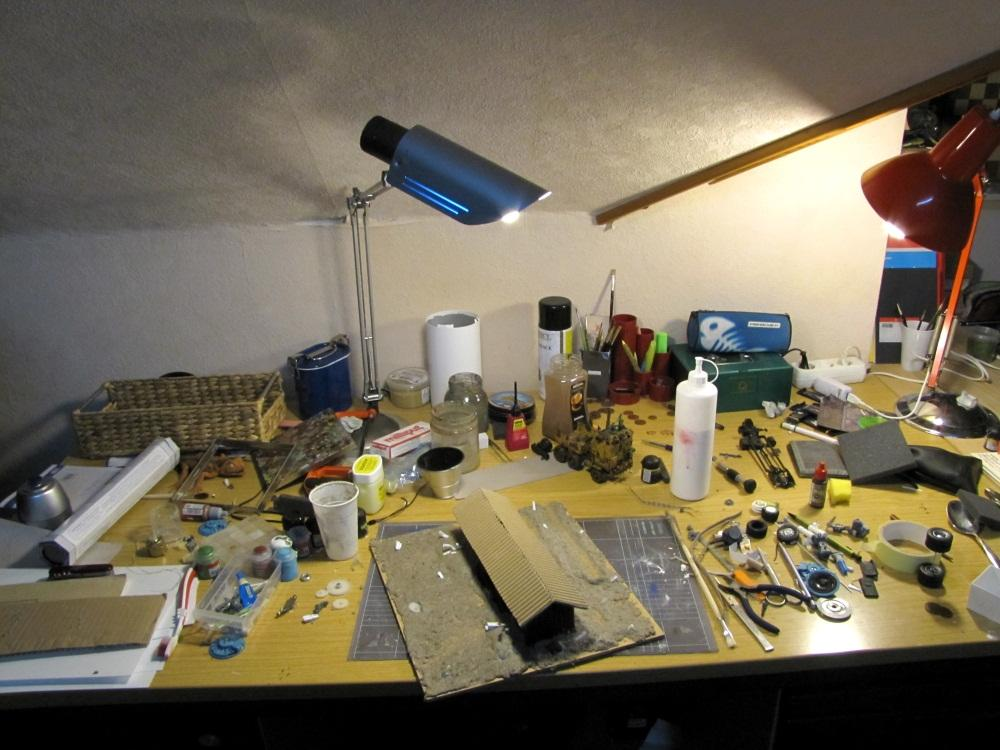 """My desk after a """"creative"""" phase..."""