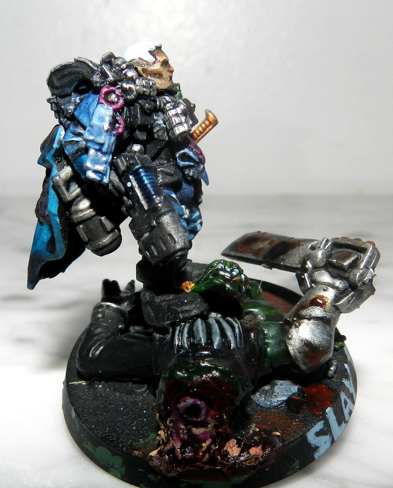 Armageddon, Blood, Boss, Cadians, Camouflage, Carapace, Ccs, Commander, Count As, Gore, Guardsmen, Headquarters, Nob, Officer, Ork Abuse, Orks, Plasma Pistol, Power Fist, Power Sword, Purity Seal, Urban, Veteran, Warboss, Warhammer 40,000, Warlord