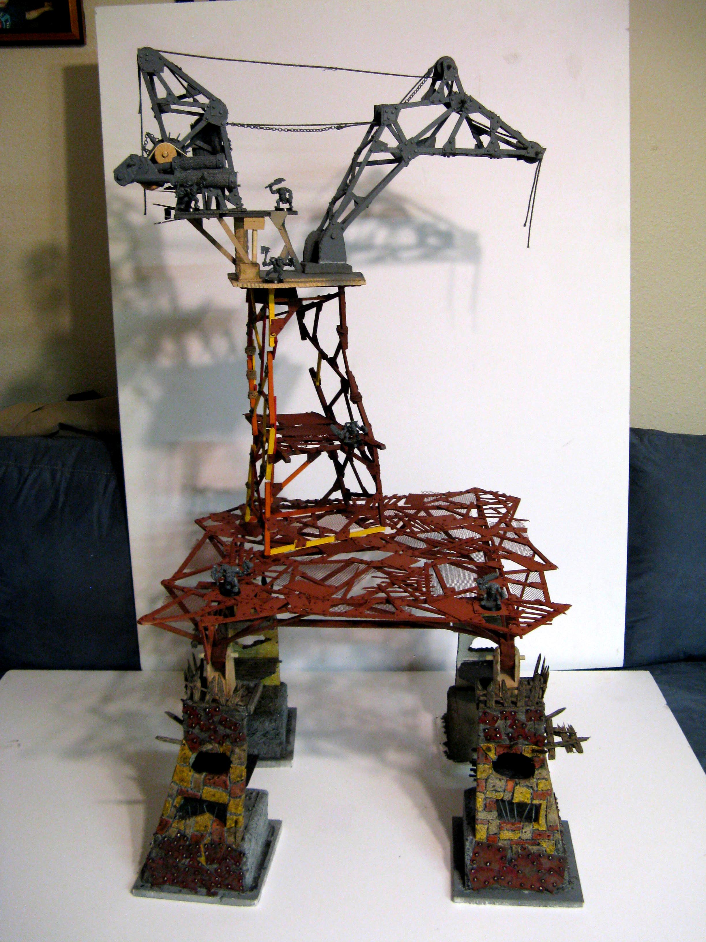 Crane, Fort, Fortification, Hure, Large, Modular, Orks, Ramshackle, Tall, Terrain, Tower
