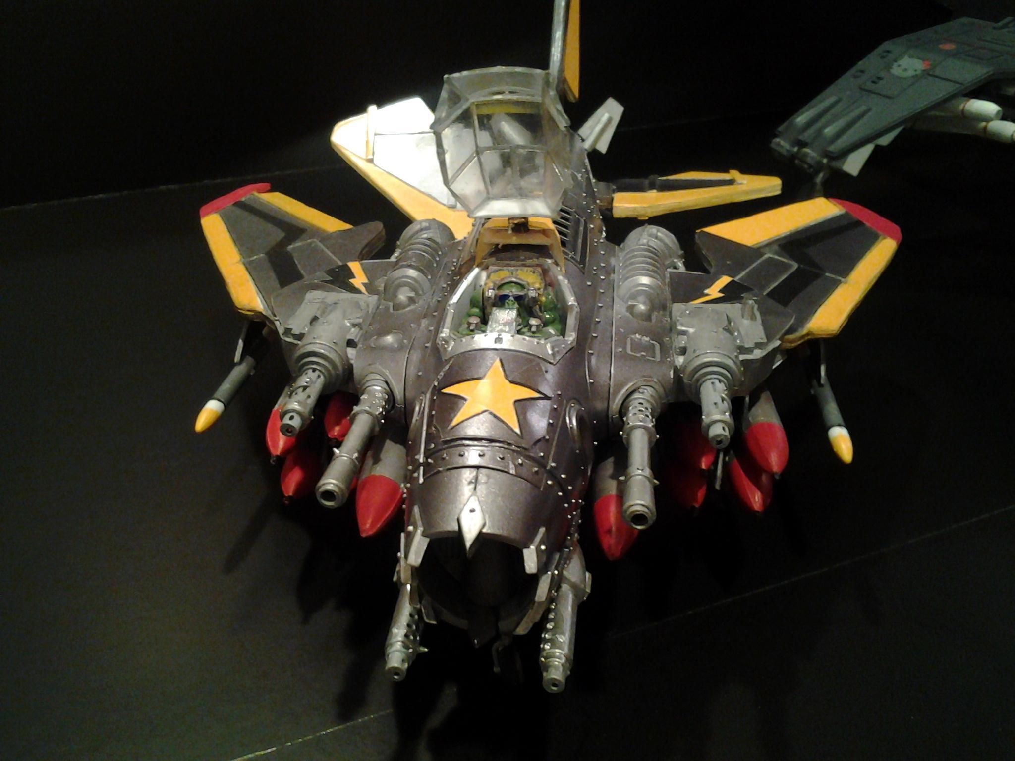 Dakka Jet, Fighta-bomber, Open Canopy, Ork Bommer, Swing Wing
