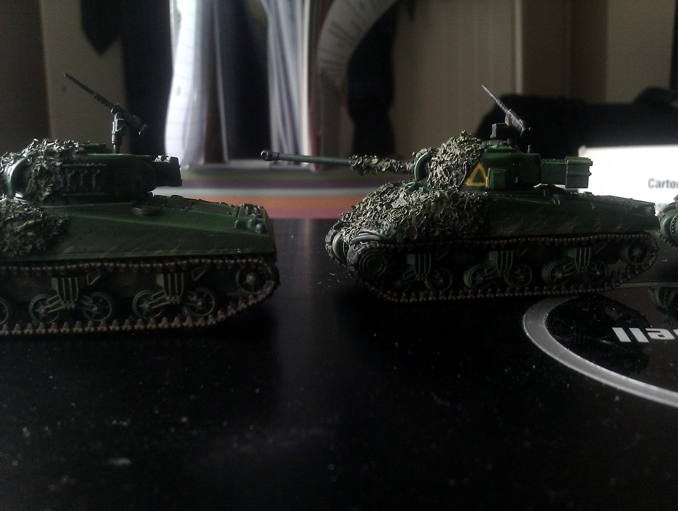 15mm, British, Camouflage, Company, Fireflies, Firefly, Flames, Net, Of, Plastic, Sherman, Soldier, War