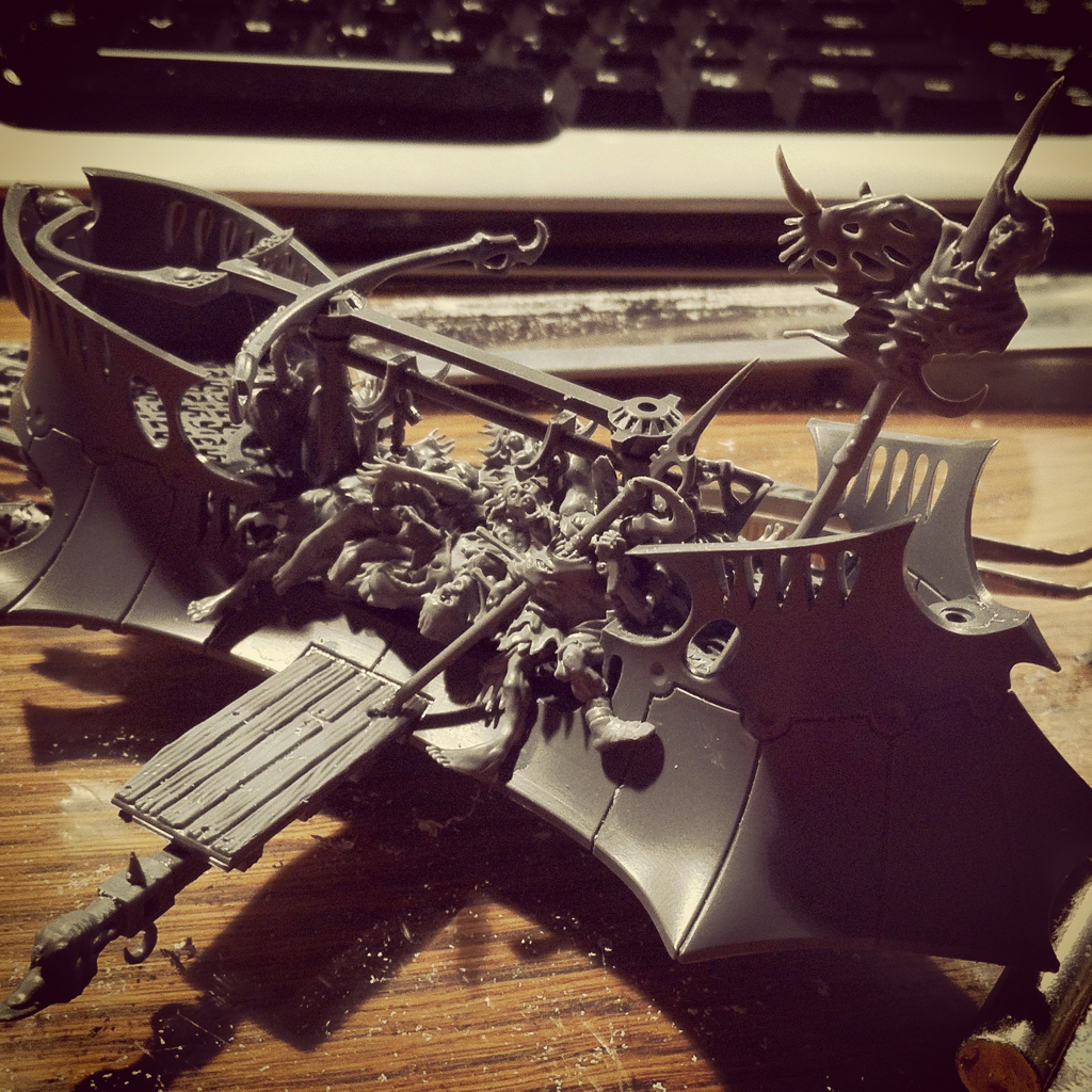 Corpse Cart, Dark Eldar, Work In Progress