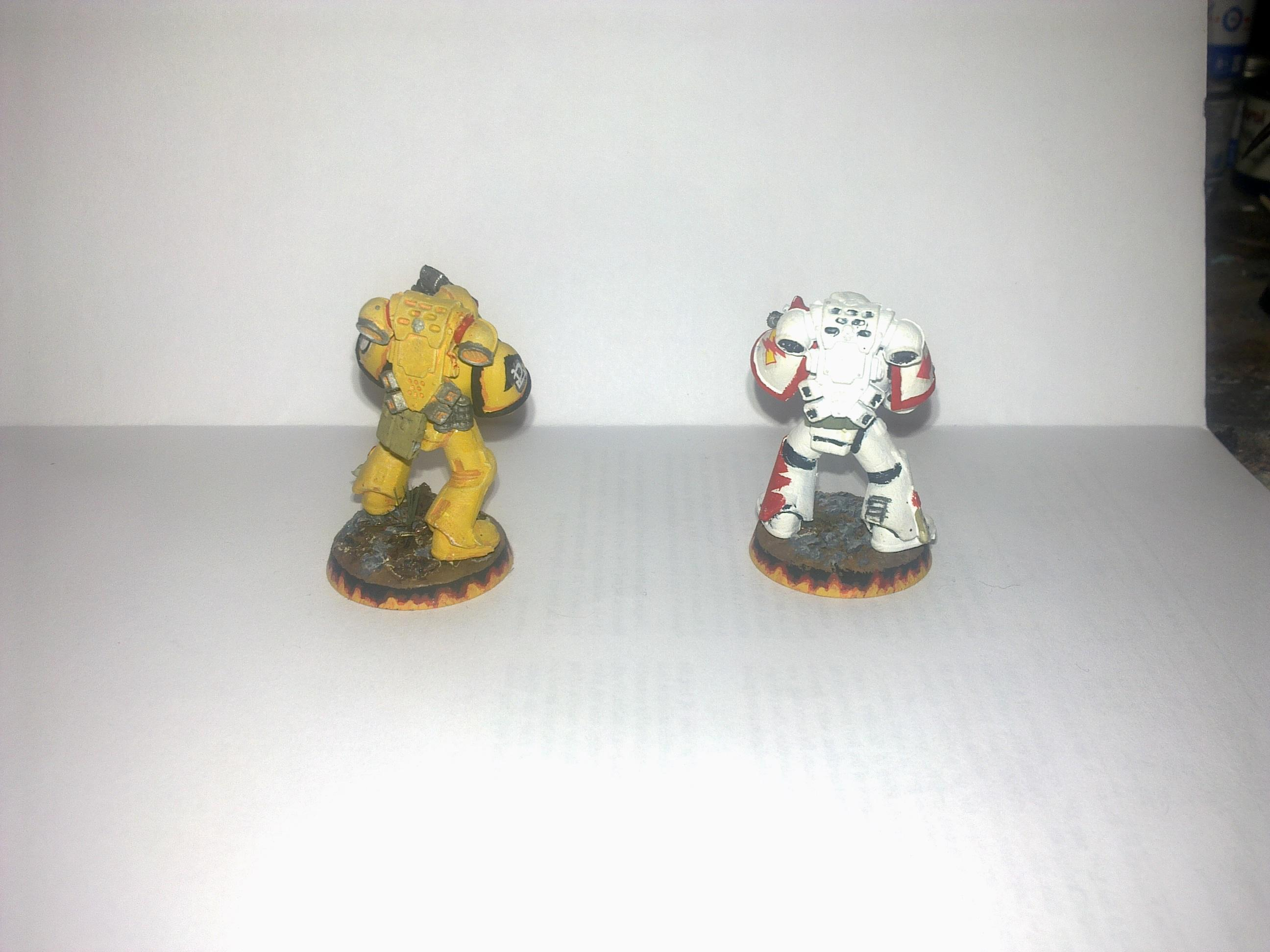 Imperial Fists, Spacemarine, Tactical Squad, Warhammer 40,000, White Scar