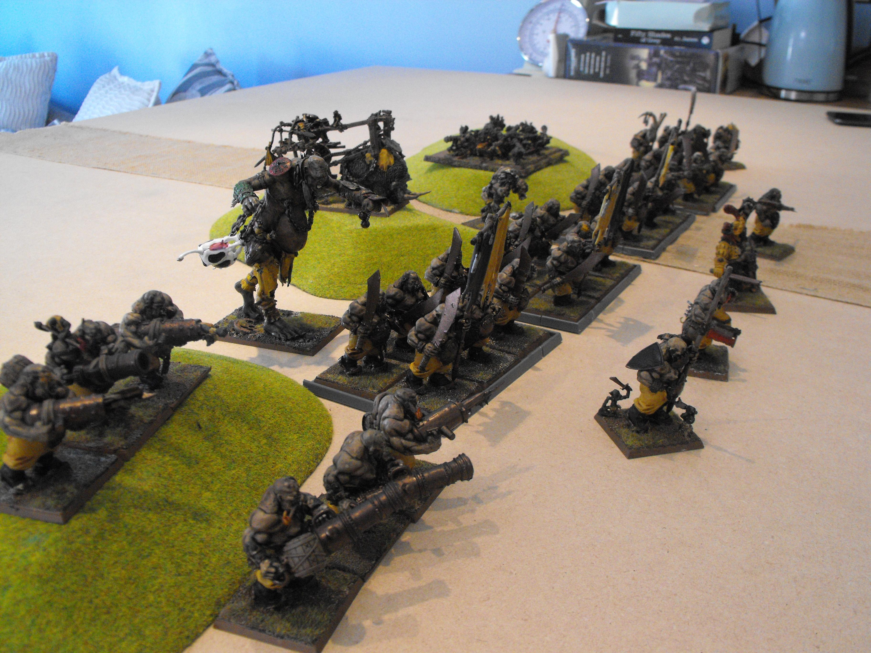 Army, Giant, Ogres, Battle line