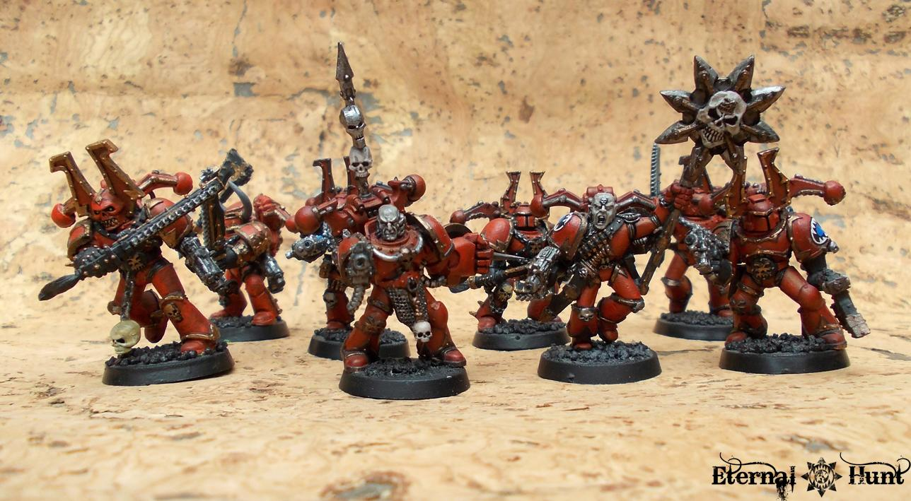 Berserkers, Chaos, Chaos Space Marines, Khorne, Warhammer 40,000, World Eaters