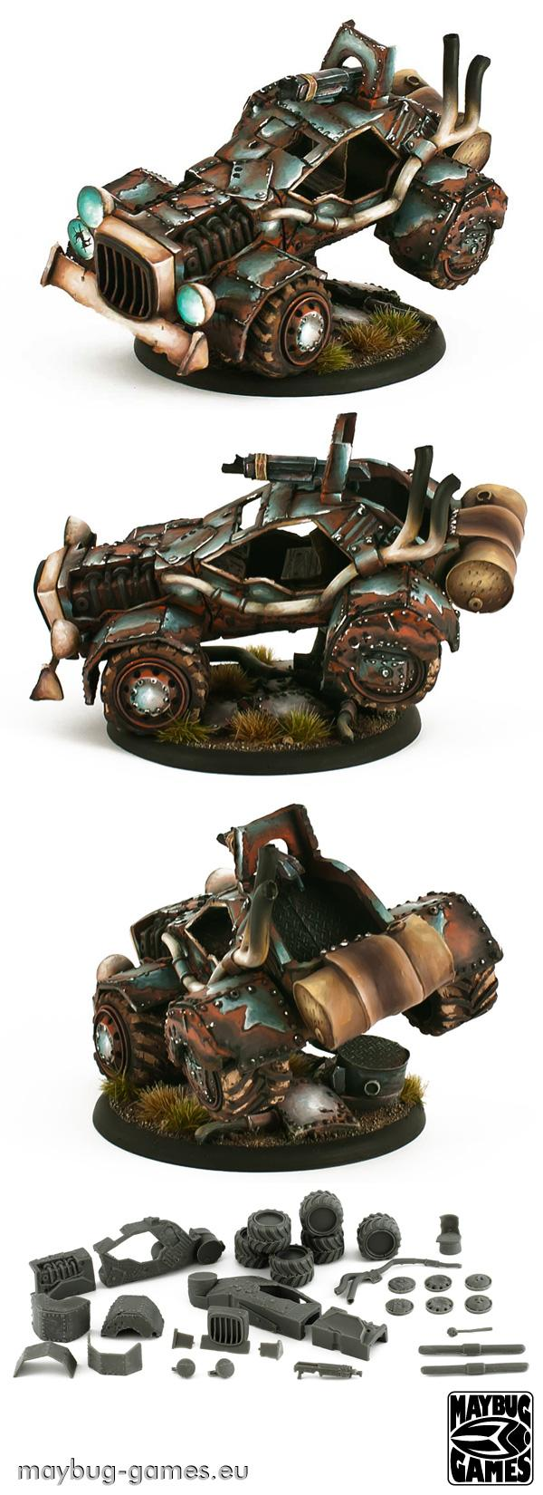 Buggy, Civilian, Jeep, Land Runner, Post Apocalyptic, Vehicle, Warhammer 40,000