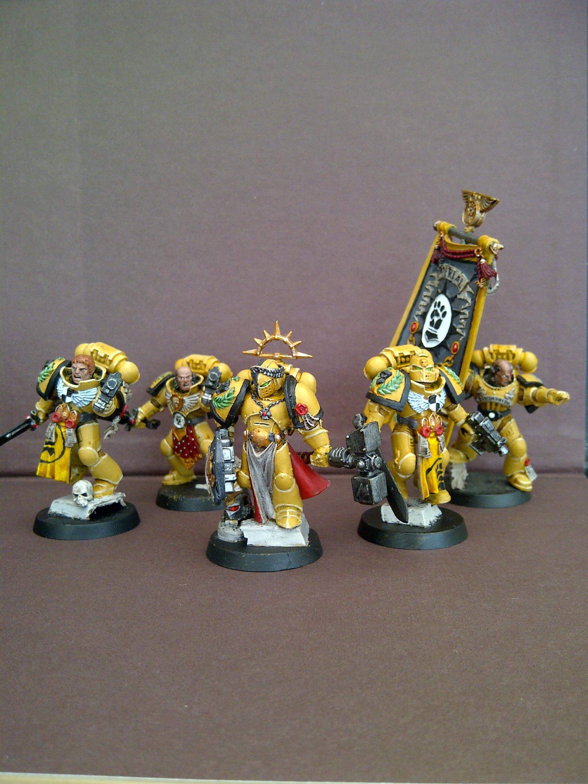 Command Squad, Imperial Fists, Space Marines
