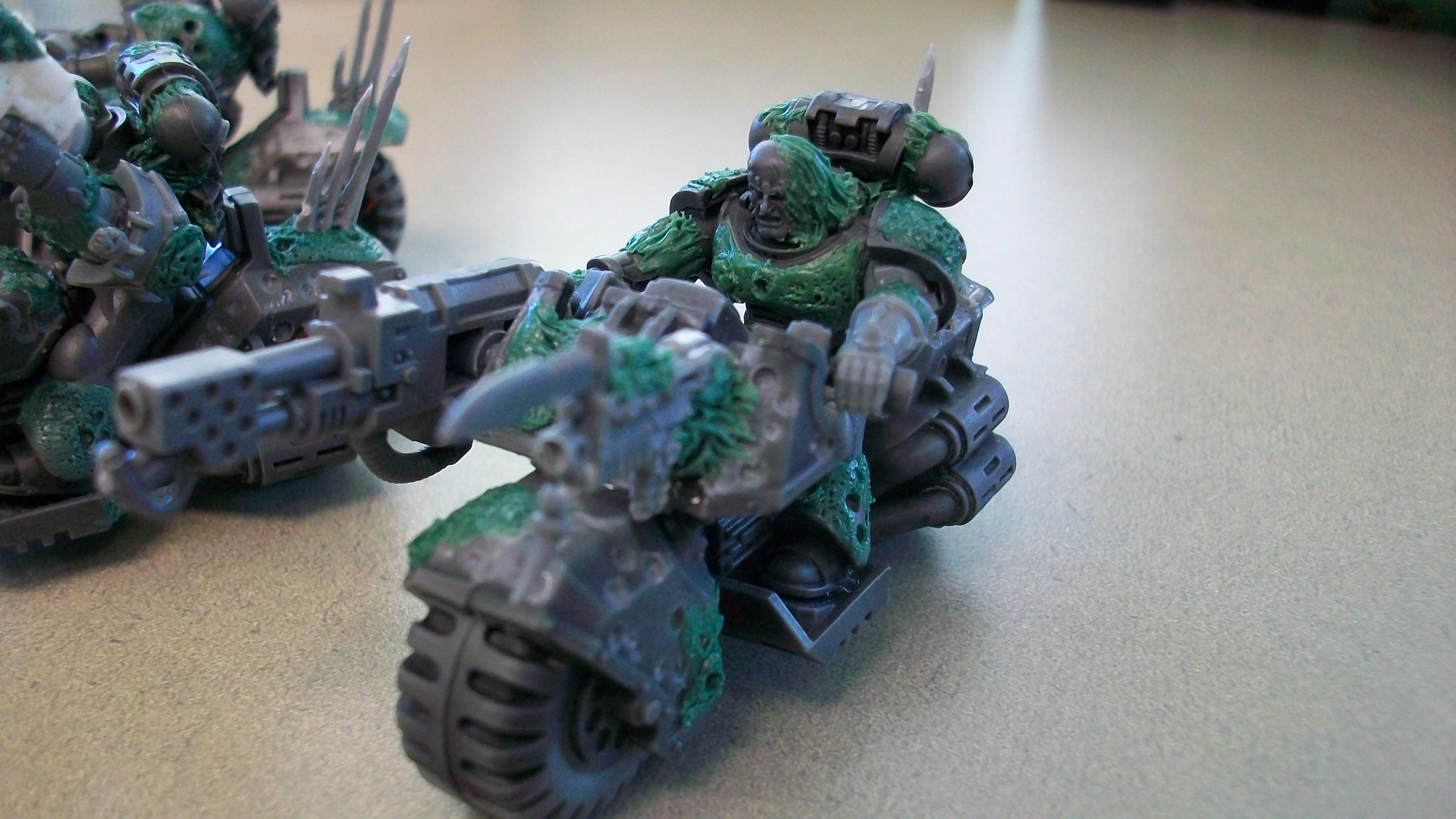 Bike, Chaos, Comversion, Custom, Flamer, Greenstuff, Meltagun, Nurgle, Scout Bike, Scouts, Space Marines, Work In Progress