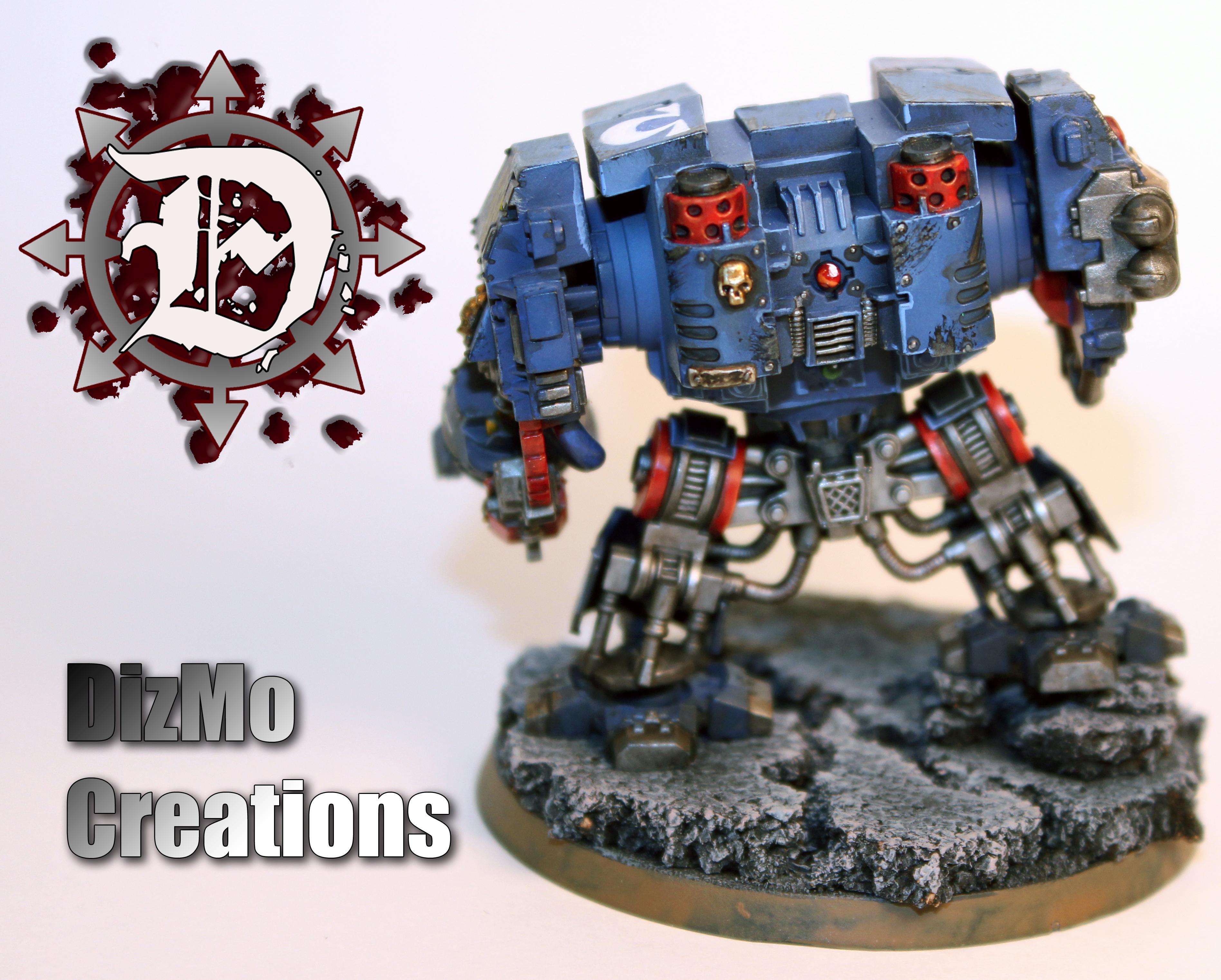 Dreadnought, Spacemarine, Ultramarines, Warhammer 40,000