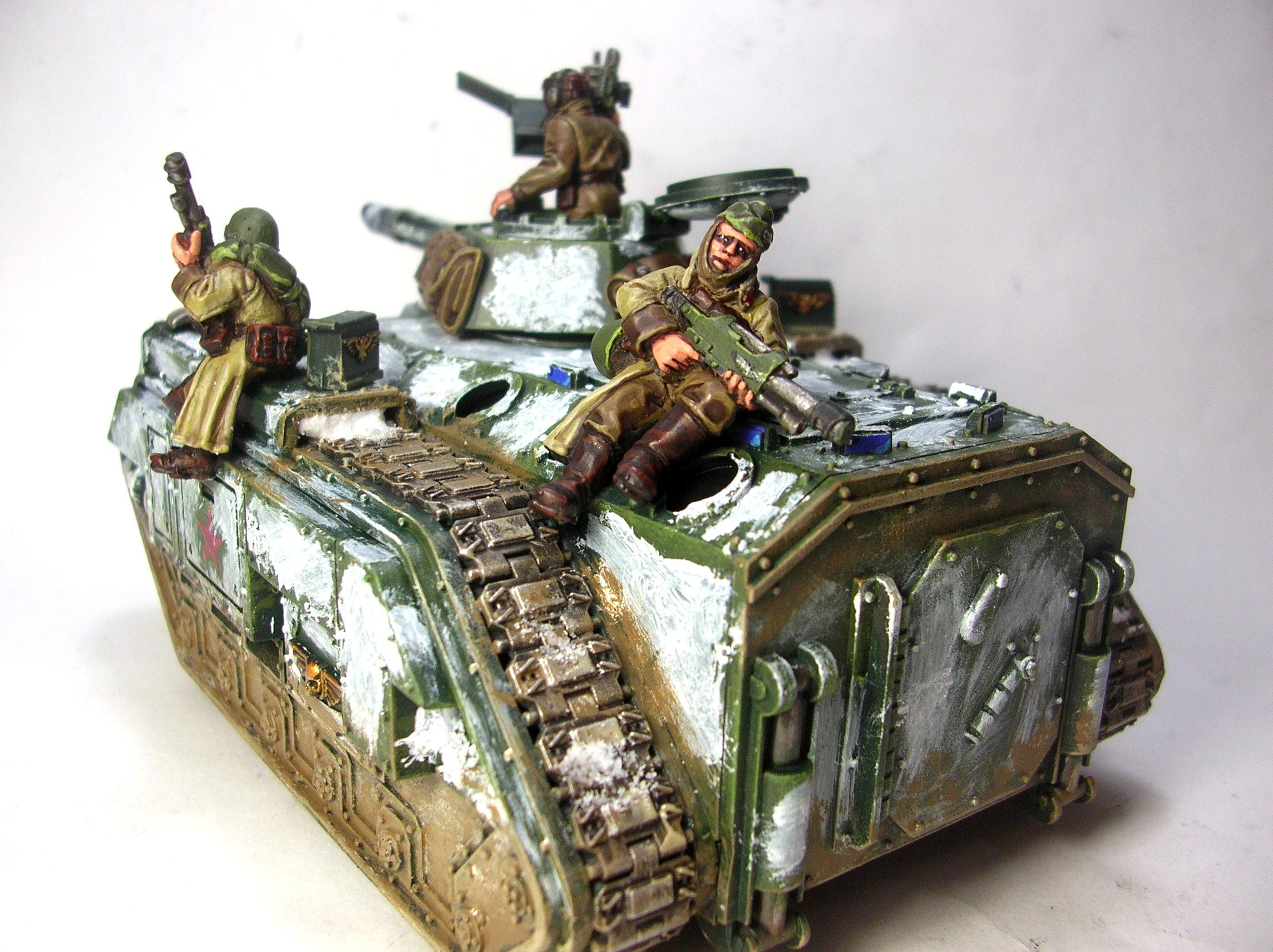 Chimera, Imperial Guard, Russians, Valhallans, Warhammer 40,000, Winter