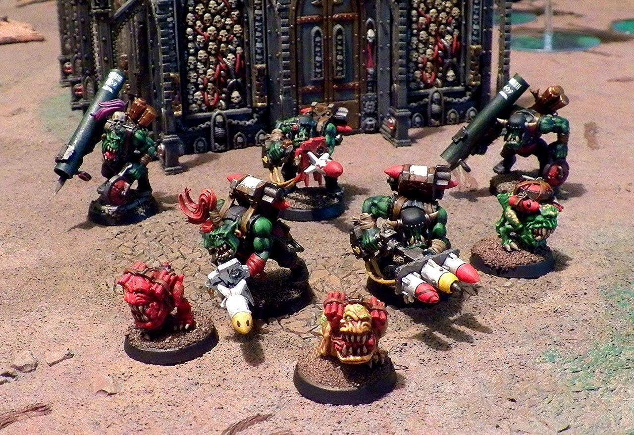 Bomb Squig, Conversion, Orks, Rokkit Launchas, Tankbustas, Warhammer 40,000