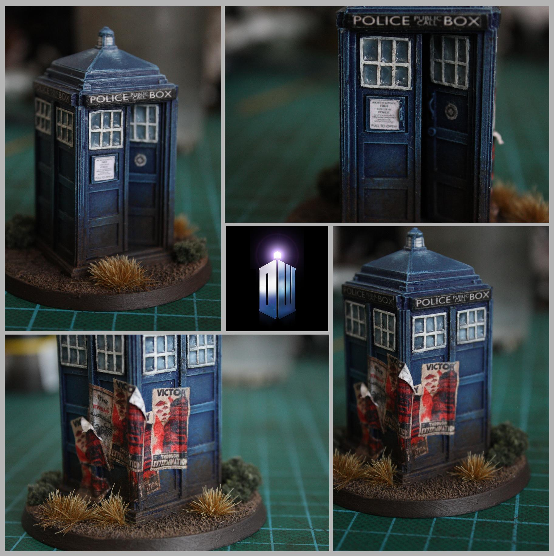 """victory Through Extermination"", 28mm Scale, 60mm Base, Box, Dalek, Doctor Who, Dr. Who, Loer, Obj. Marker, Propaganda Poster, Rivateer, Tardis, Time And Reletive Dimentions In Space"