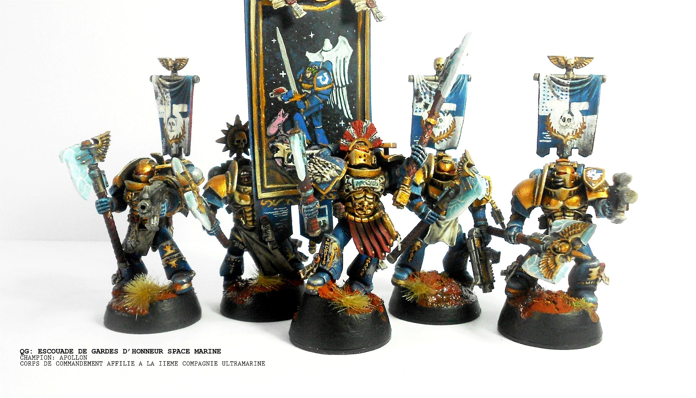 Banner, Freehand, Grey Knights, Space Marines