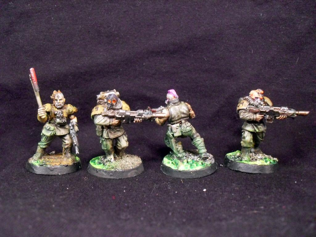 Acid, Bandit, Chem, Chem-dog, Conversion, Diorama, General, Imperial Guard, Imperium, Penal Legion, Platoon, Post-apocalypse, Raider, Savlar, Scenic, Scum, Soldiers, Veteran, Wasteland