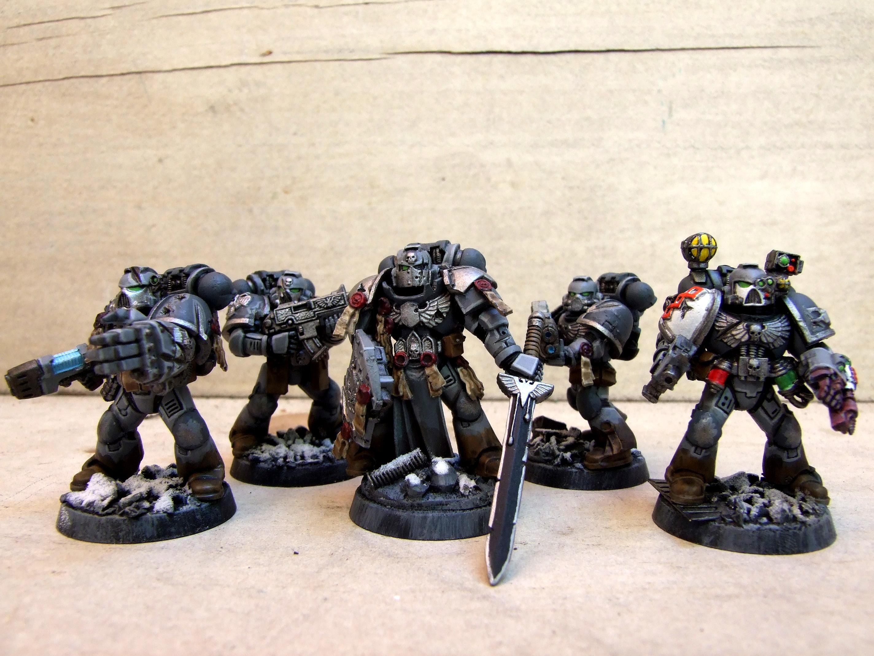 Command Squad, Relic Blade, Space Marines, Stone Sentinels