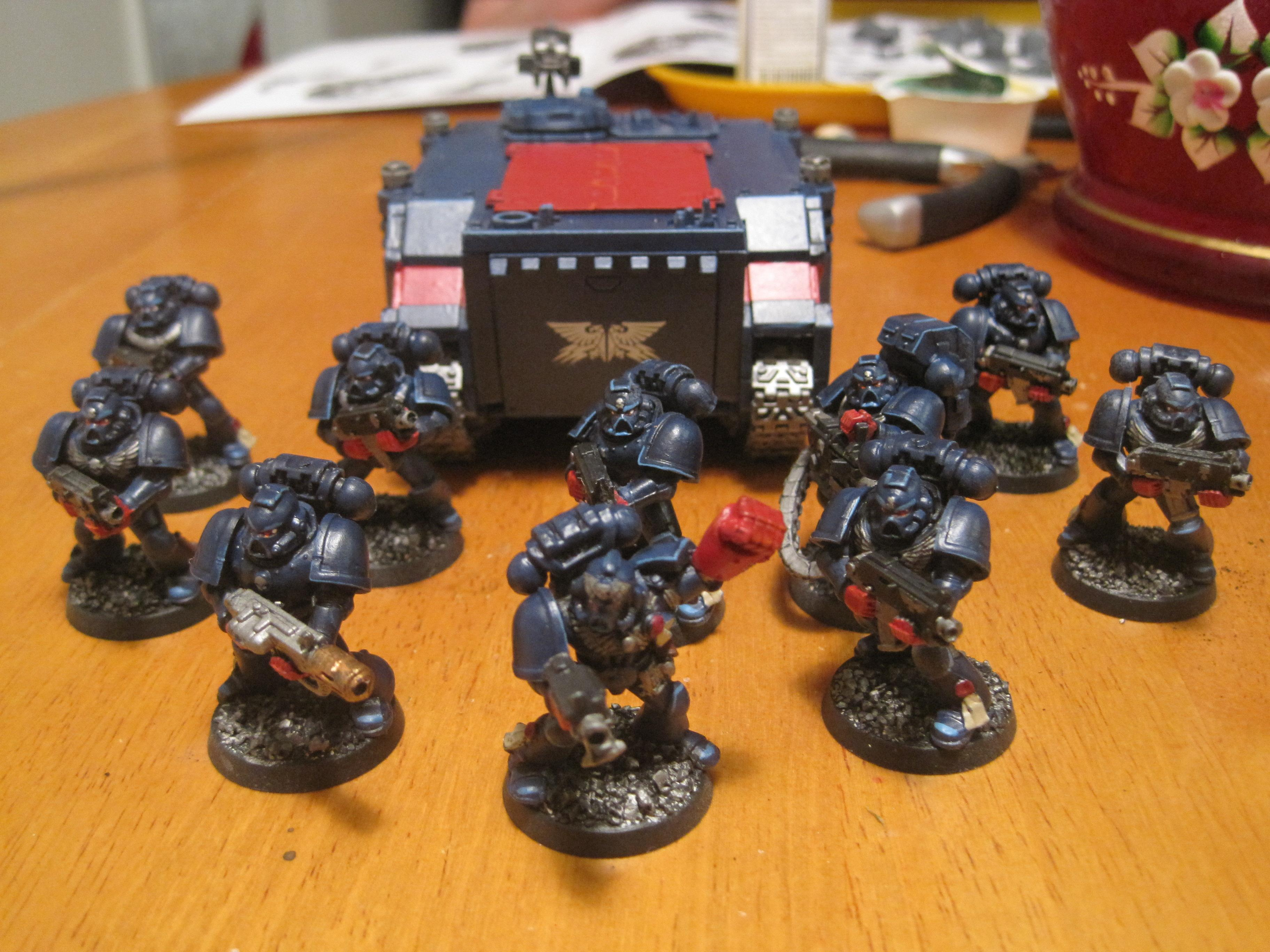 Crimson Fists, Rhino, Space Marines
