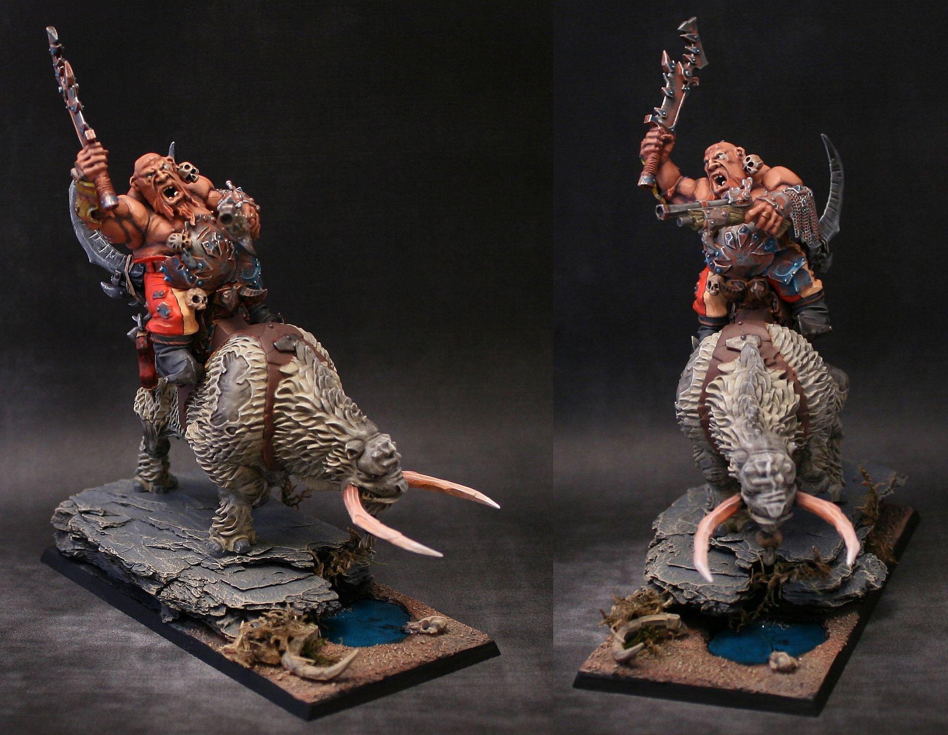 Cavalry, Crusher, Mournfang, Ogre Kingdoms, Ogres, Warhammer Fantasy