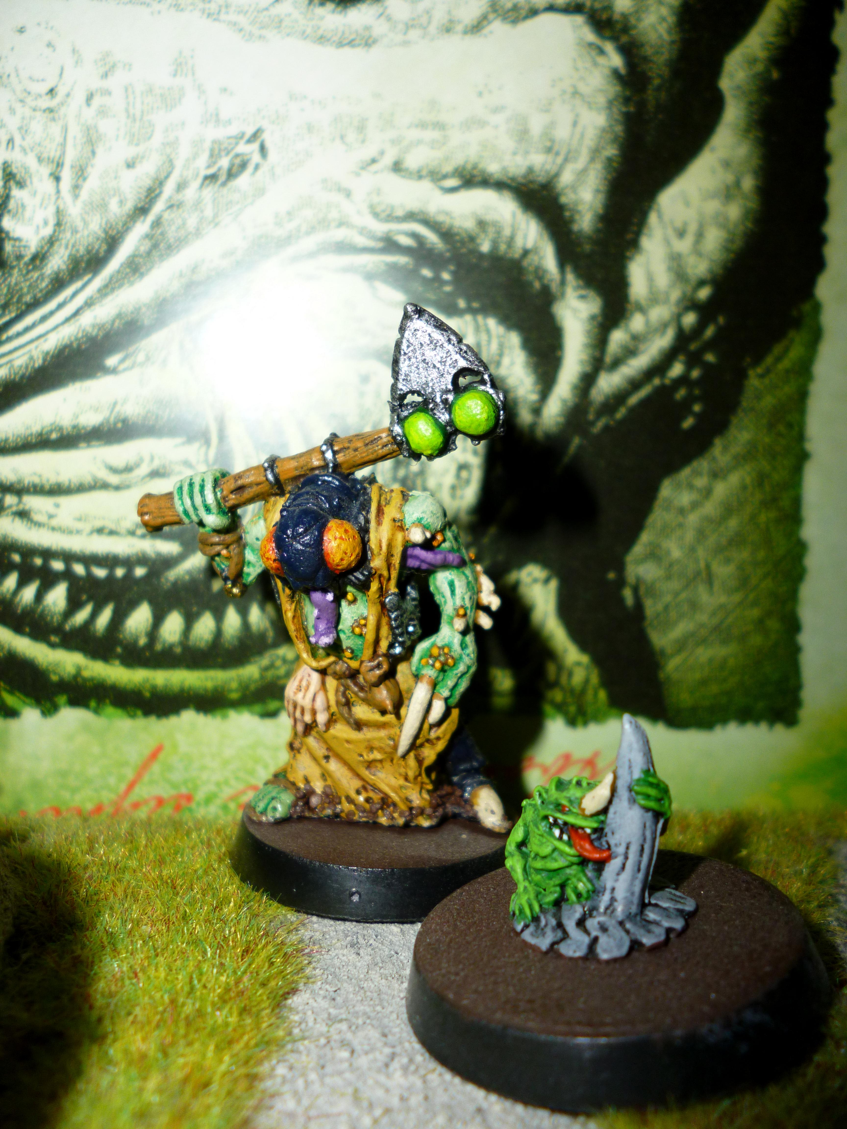 Chaos, Nurgle, Nurgle Psyker With Familiar, Space Marines