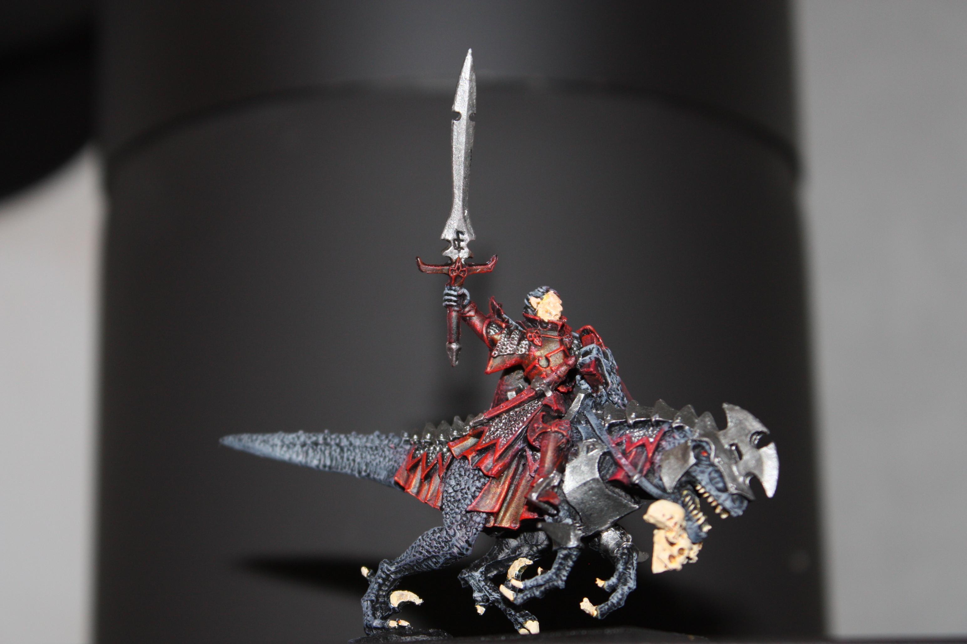 Cold One, Dark Elves, Dreadlord, Warhammer Fantasy