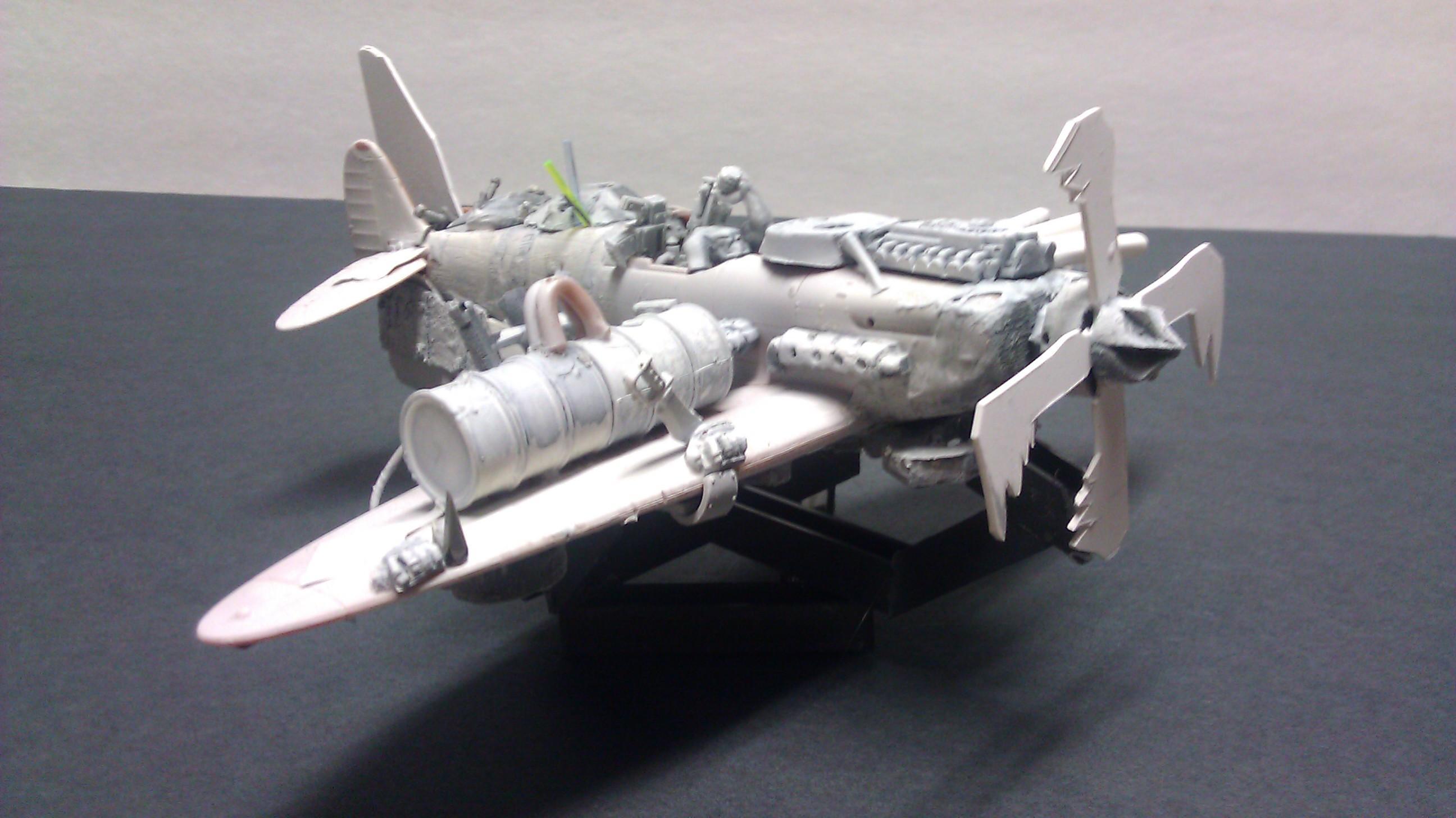 Bomber, Custom, Flama Jet, Jet, Orks, Shoota Jet, Warhammer 40,000