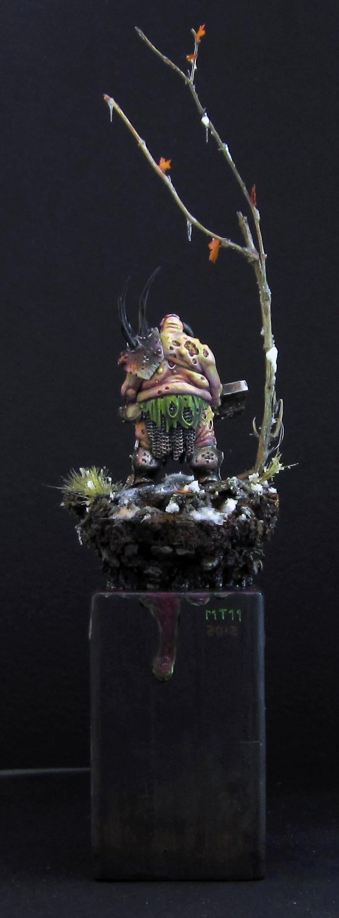 Custom, Lord, Nurgle, Showpiece. Freehand