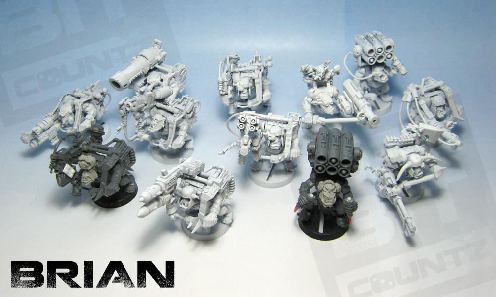 Custom, Dakka Dakka, Deffgun, Kitbashed, Lootas, Orks, Warhammer 40,000
