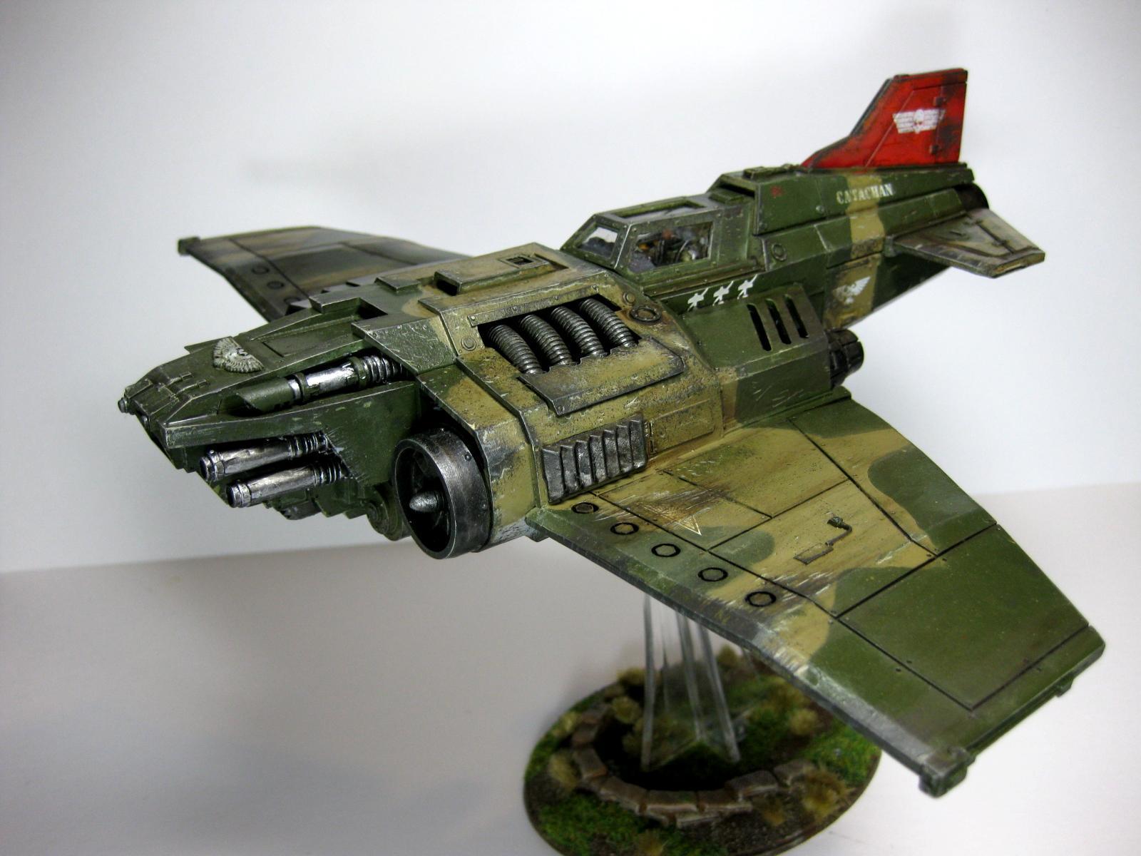 Catachan, Fighter, Heavy, Imperial, Navy, Thunderbolt, Warhammer 40,000