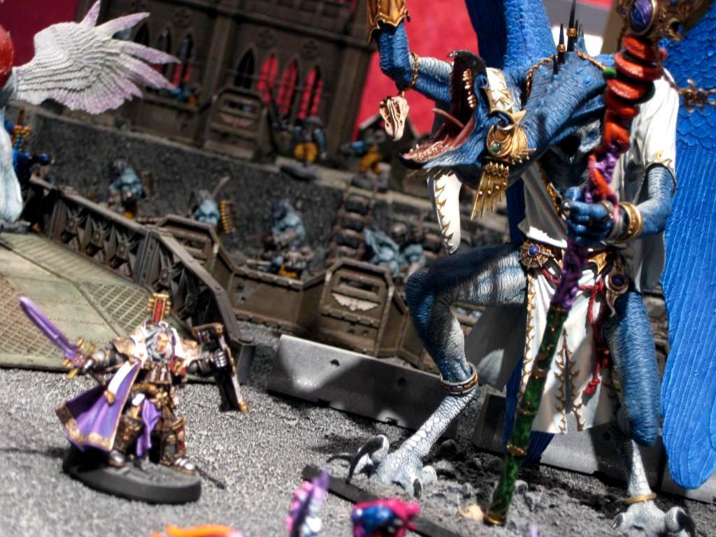 Daemons, Diorama, Duel, Greater Daemon, Greater Demon, Inquisitor, Tzeentch