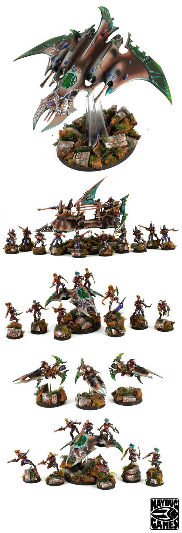 Blending, Commission, Cool Stuff, Dark Eldar, Impressive, Jetbike, Razorwing, Warhammer 40,000