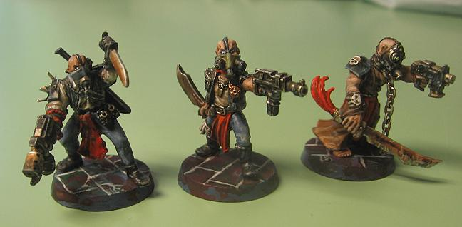 Kitbashed Chaos Cultists