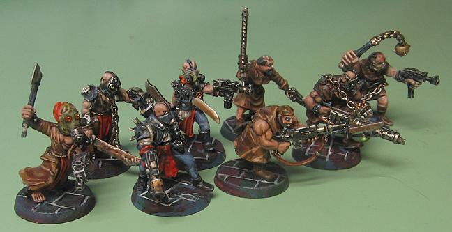 Cultists, Kit Bash, Kitbashed Chaos Cultists