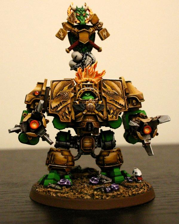 Ashmantle, Bray'arth, Dreadnought, Salamanders, Space Marines, Warhammer 40,000