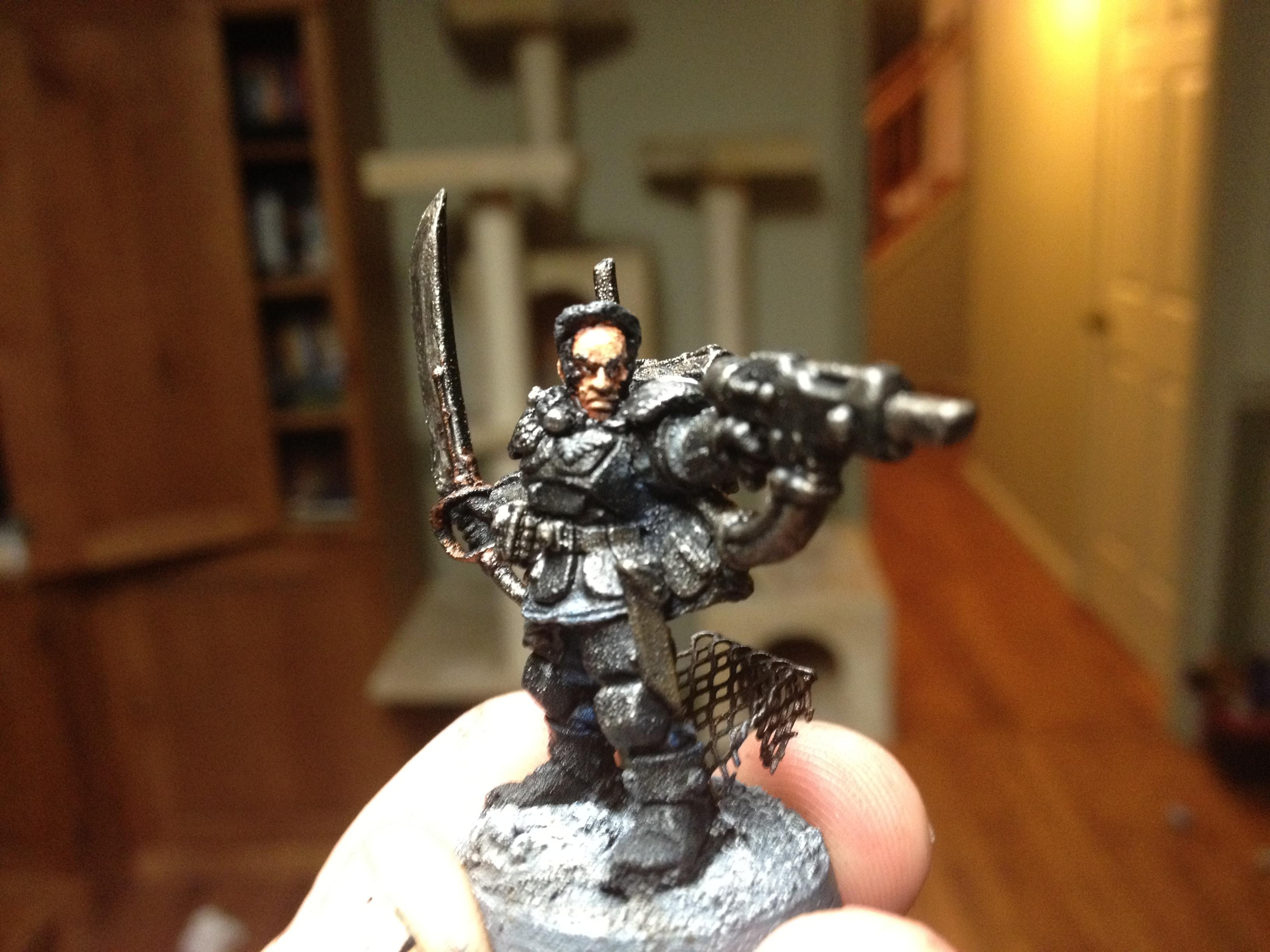Kasrkin Lieutenant Kolso, in all his painted glory!