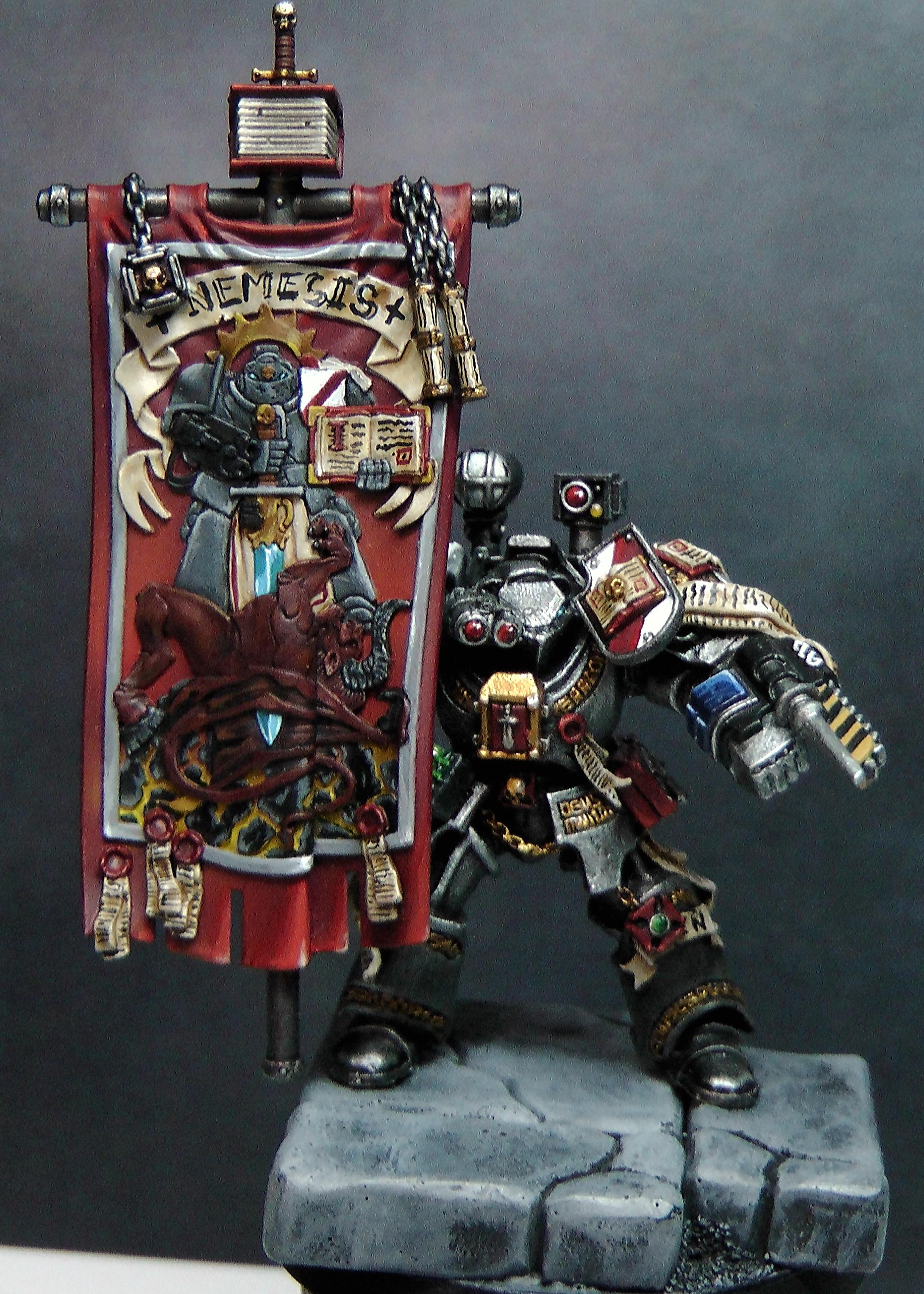 Astartes, Banner, Bearer, Grey, Grey Knights, Knights, Nemesis, Terminator Armor, Titan, Warhammer 40,000