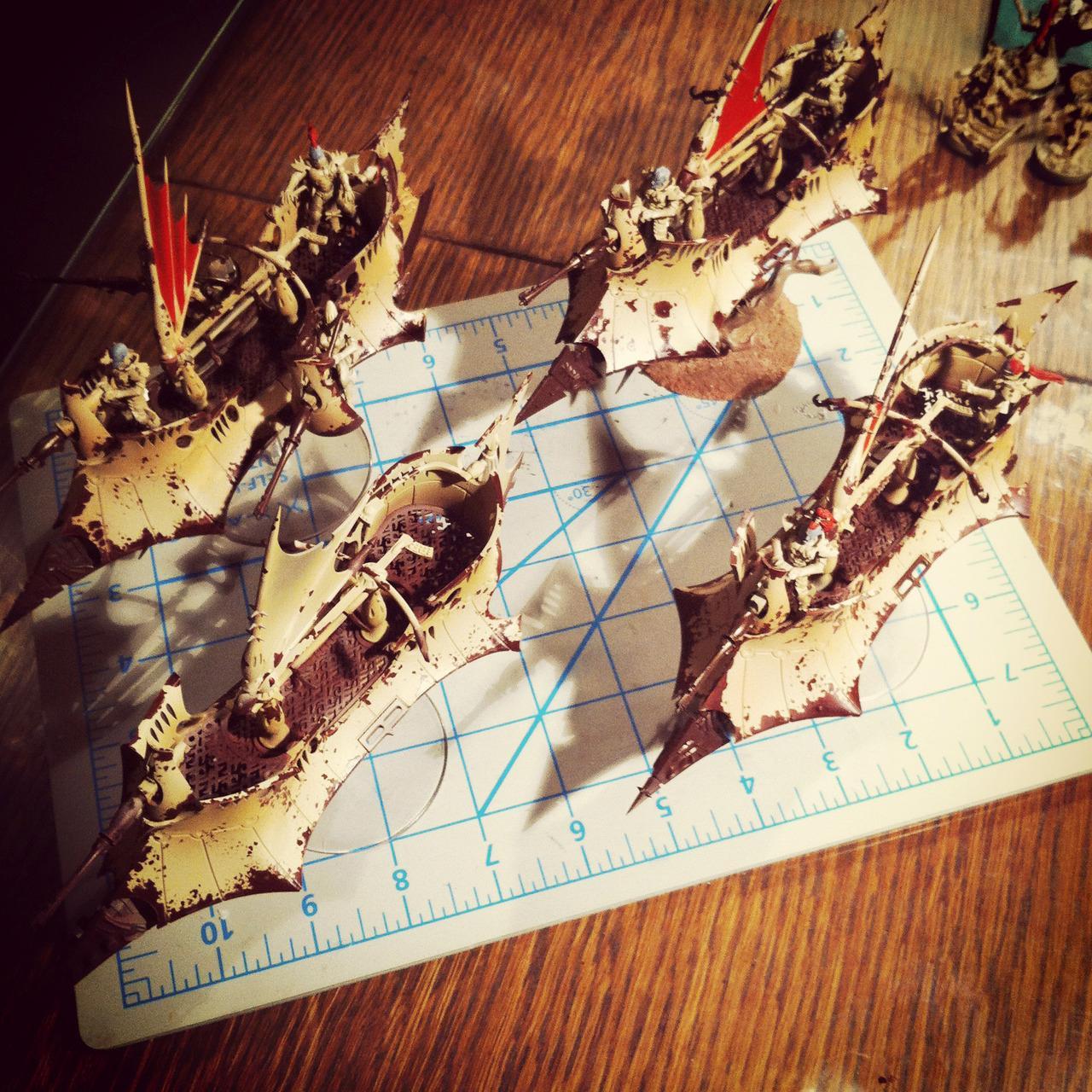 Dark Eldar, Raider, Ravager, Work In Progress