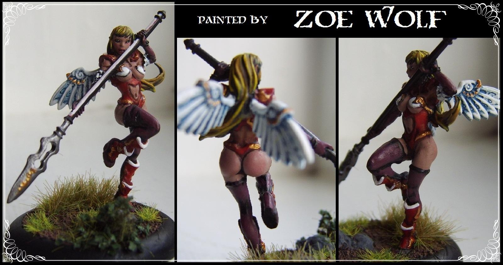 Angel, Anime, Female, Miniature, Winged