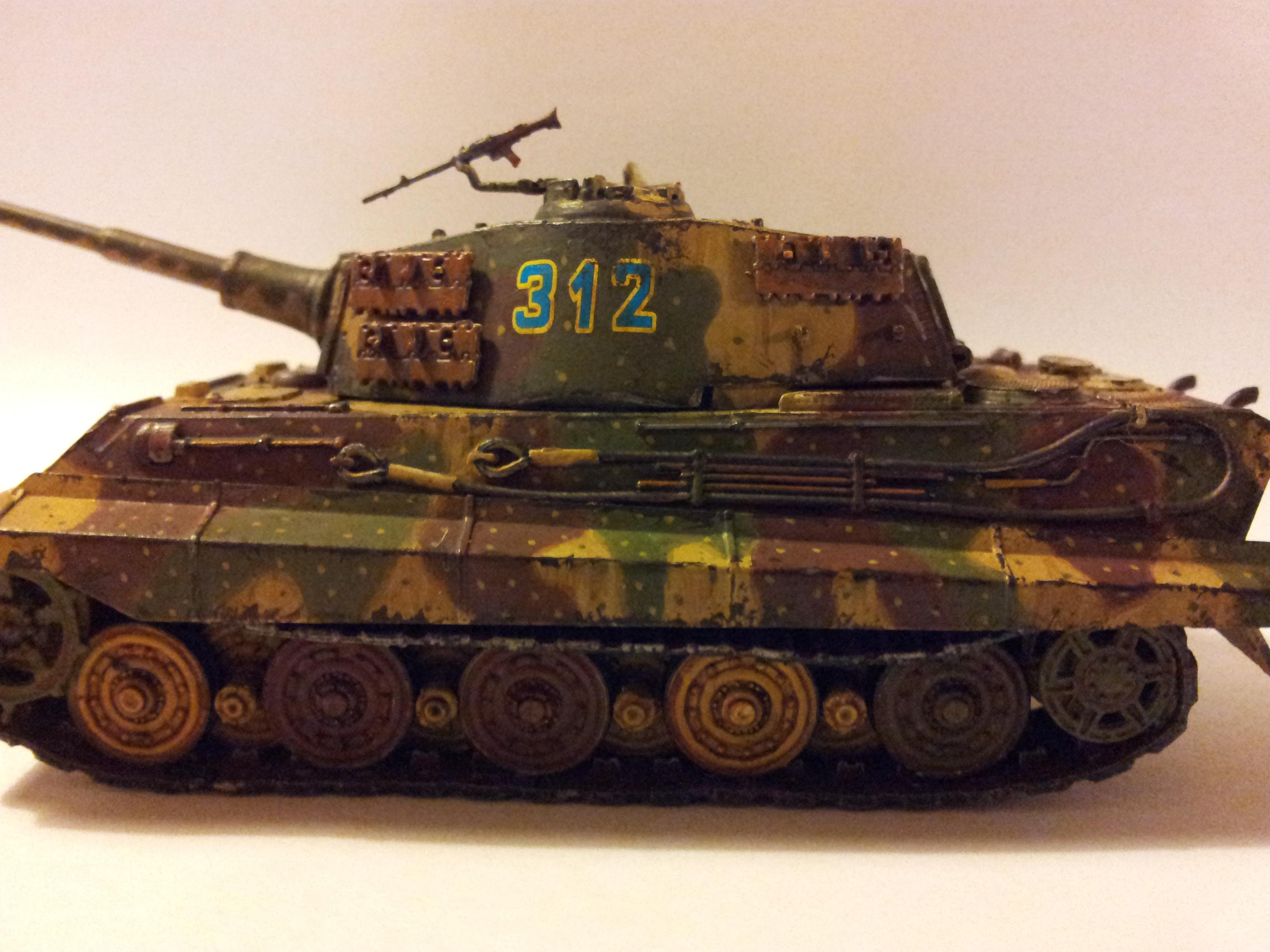 Germans, King Tiger, Panzer, Tank, Tiger, Weathered, World War 2