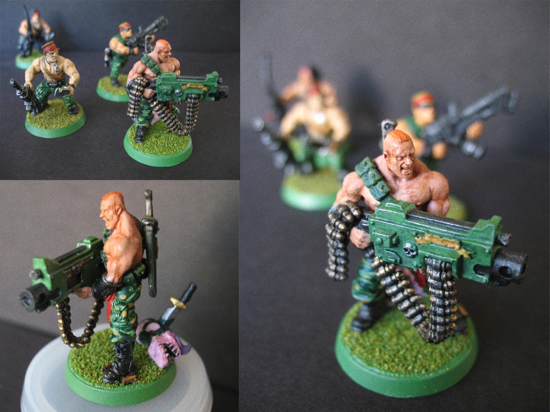 Catachans, Harker, Imperial Guard, Marbo, Trooper